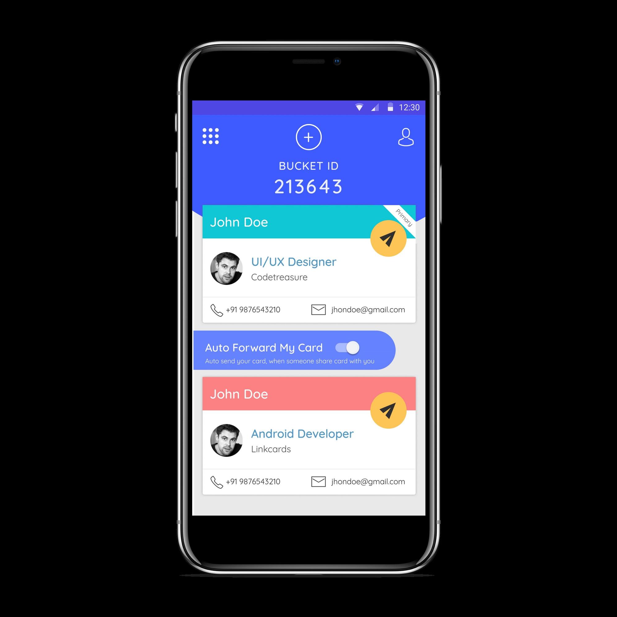 Stylish smart digital business card app linkcardsapp image 1 colourmoves